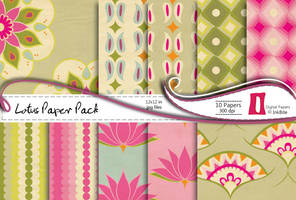 Lotus Paper Pack by naga-pree