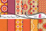 Poppy Hues Paper Pack by naga-pree