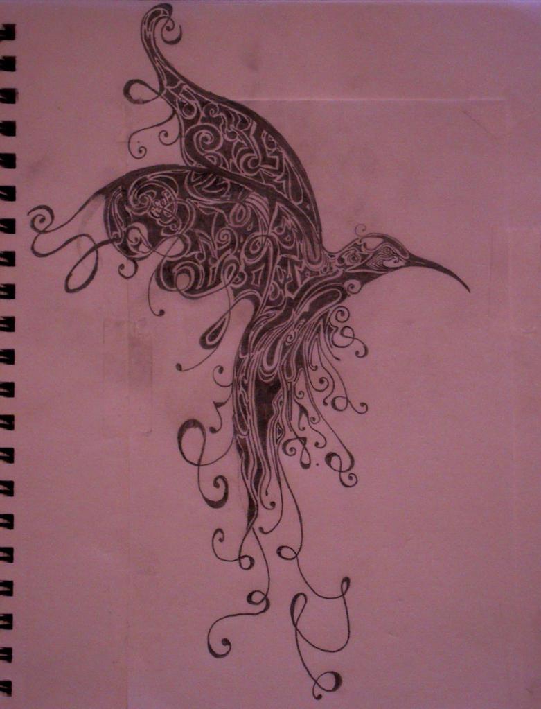 Hummingbird Tattoo - shoulder tattoo