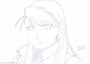 Riza Hawkeye - Line Art