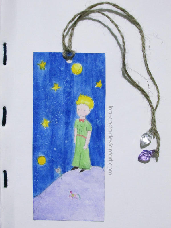 Le Petit Prince Handmade Bookmark by lina-costa