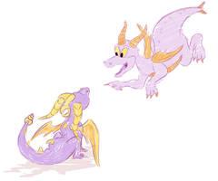 Figment and Spyro