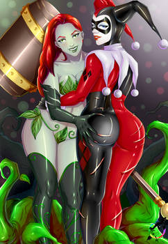 Ivy Poison and Harley Quinn Fan-Art