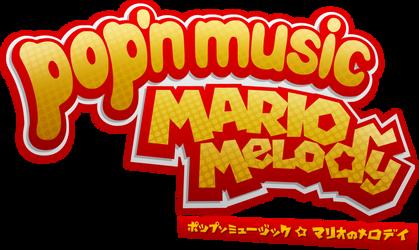 Pop'n Music Mario Melody - Logo by MegaMario99