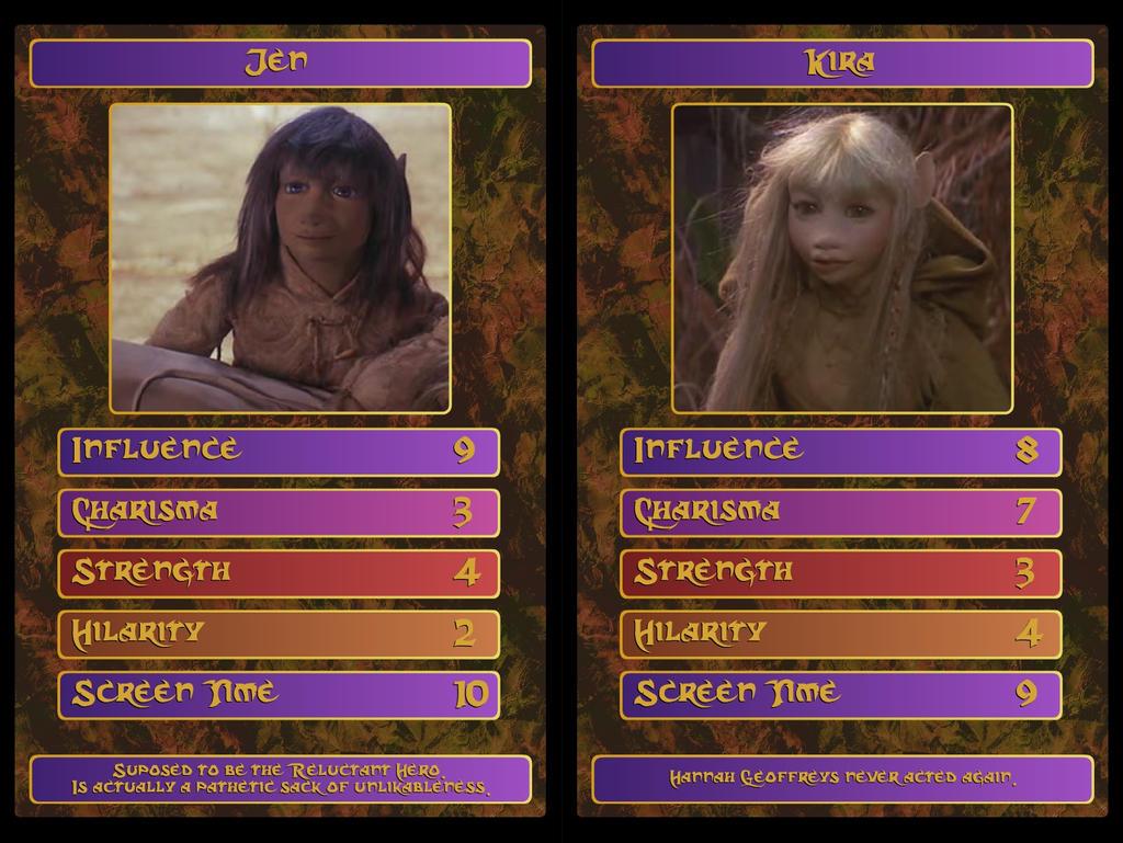 Dark Crystal Top Trumps Jen And Kira By Doomwiggle On Deviantart