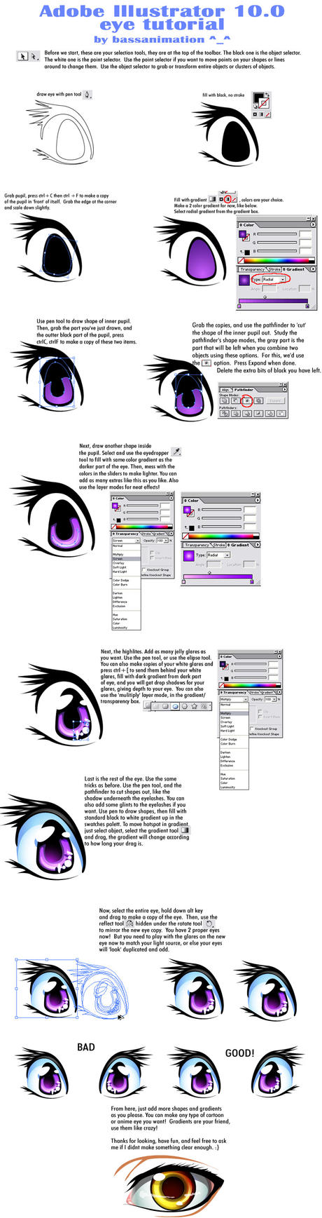 Adobe Illustrator Eye Tutorial by bassanimation