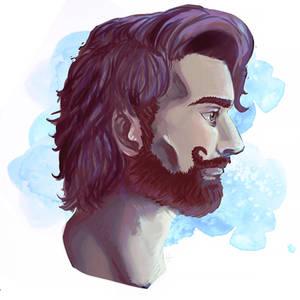 pretty bearded man