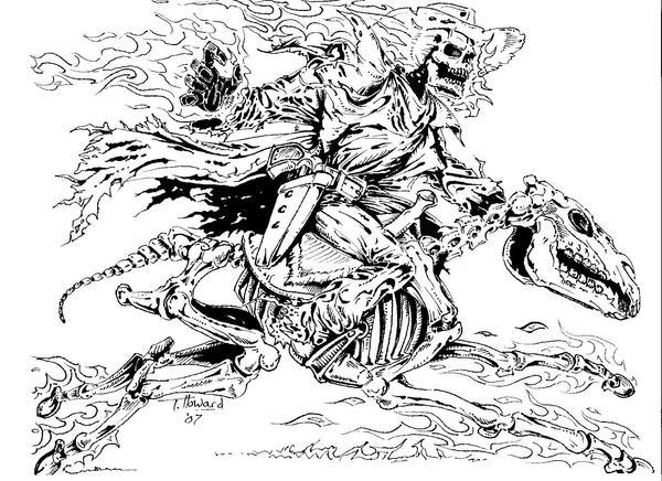 Cowboy Ghost Rider Drawings | www.pixshark.com - Images ...