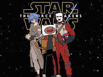 Rey, Finn and Poe