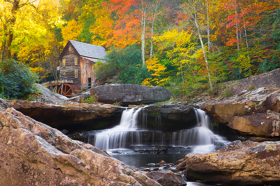 Babcock Grist Mill in Autumn