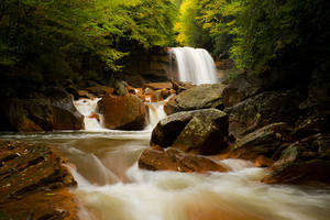 Douglas Falls Early Autumn by LAlight