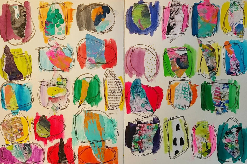 Untitled Art Journal Spread  by scarlyton