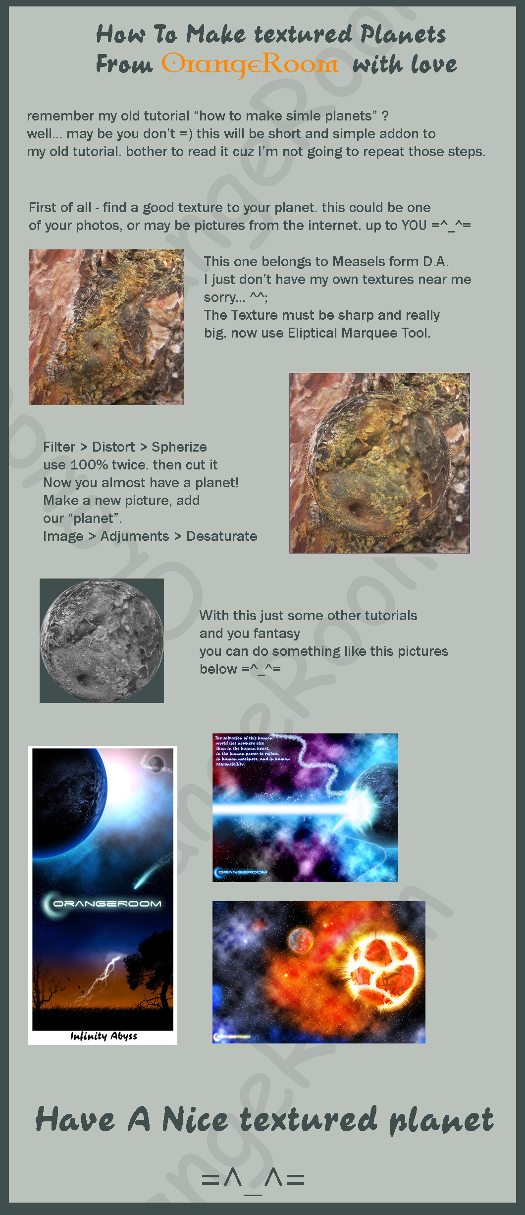 Textured Planets tutorial by OrangeRoom