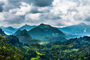 Morning in Alps by OrangeRoom