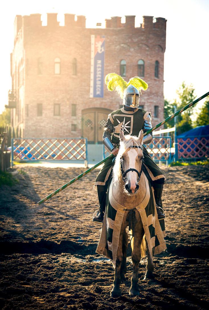 Nesselbeck Knight on sunset by OrangeRoom