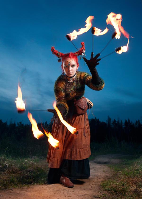 Fire Witch by OrangeRoom