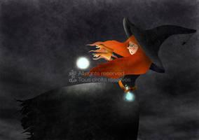 Halloween witch by Movezerb