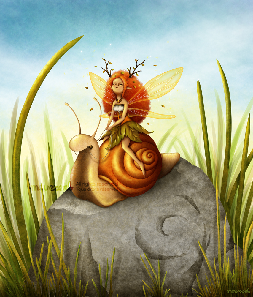 Snail riding by Movezerb
