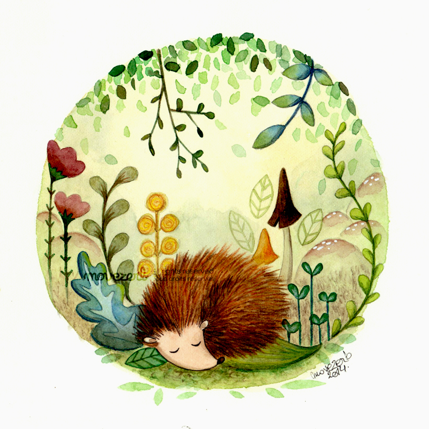 Woodland friends : Hedgehog by Movezerb
