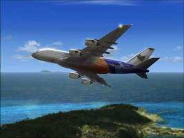 Airbus A380 Picture retouch by kandiart