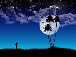 Watching the night sky by kandiart