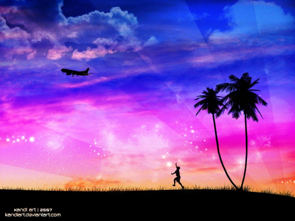 Summer Sunset + New Sky by kandiart
