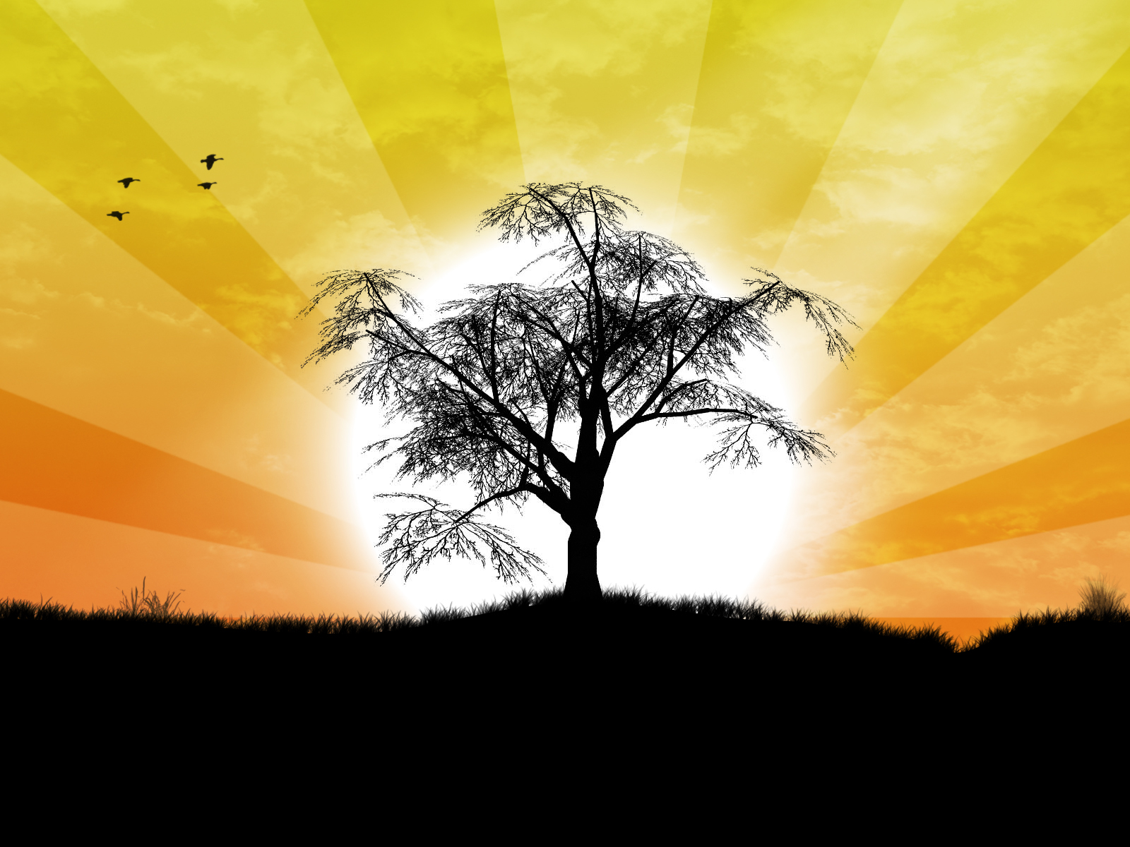 Lone Tree by kandiart on deviantART