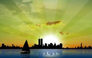 New York Skyline by kandiart