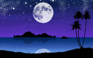 Ocean Moon by kandiart
