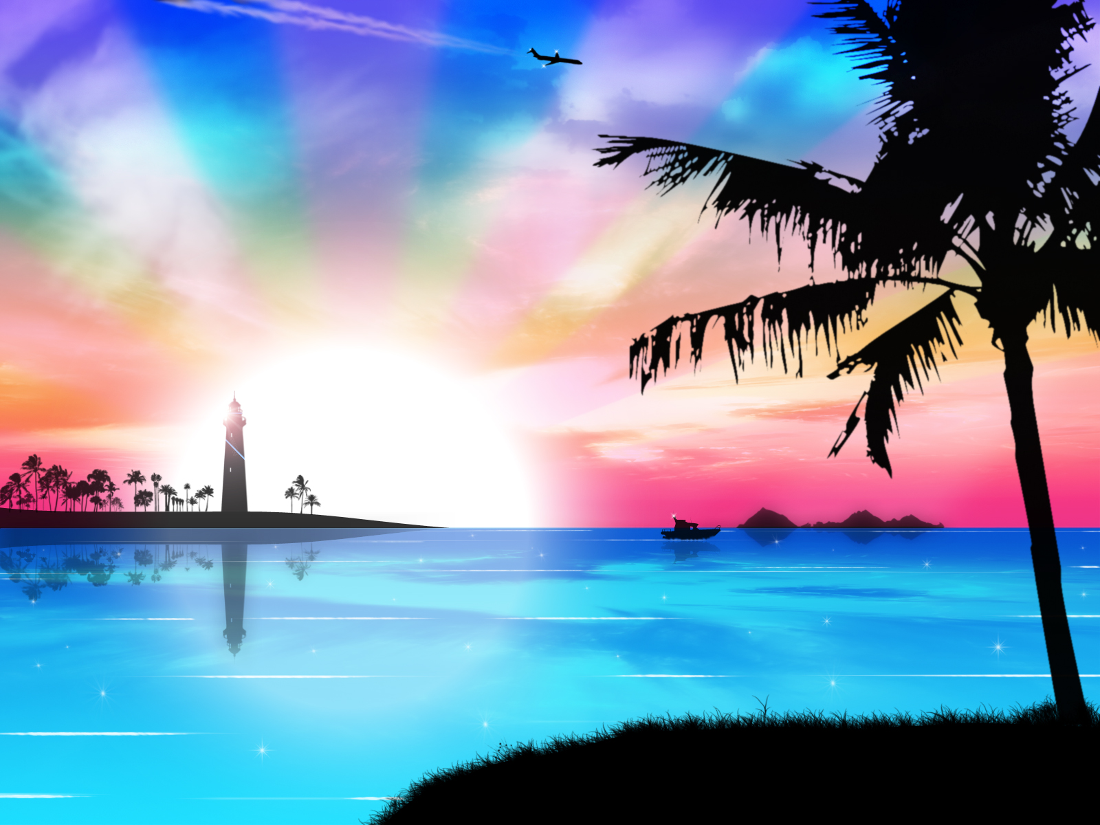 Tropical dreams by kandiart on deviantart for Pretty wallpaper for walls