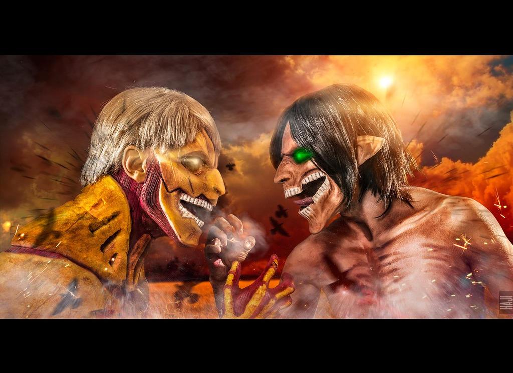 Attack on titan. Eren vs Rainer
