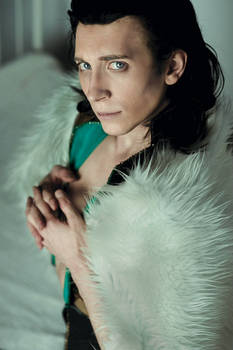 Loki in fur coat