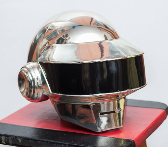 Daft Punk Thomas Metal Chrome helmet by TheIdeaFix