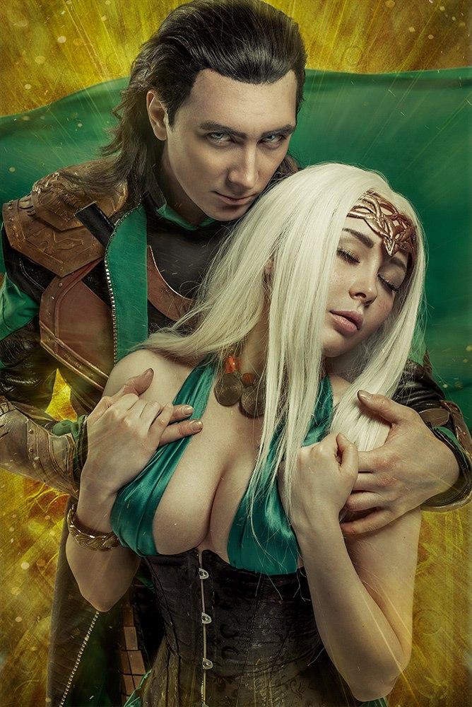 Loki and Sigyn by TheIdeaFix