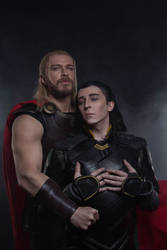 Thor and Loki family photo