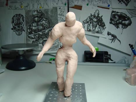 00559 WIP - Clay figure