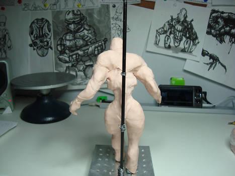 00560 WIP - Clay figure