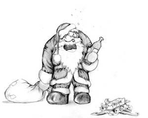 00166 Santa Boozing