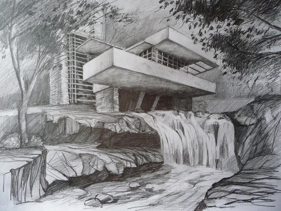 quick draw of waterfall - photo #35