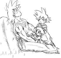 Watching over us SKETCH by Gosha-Chan