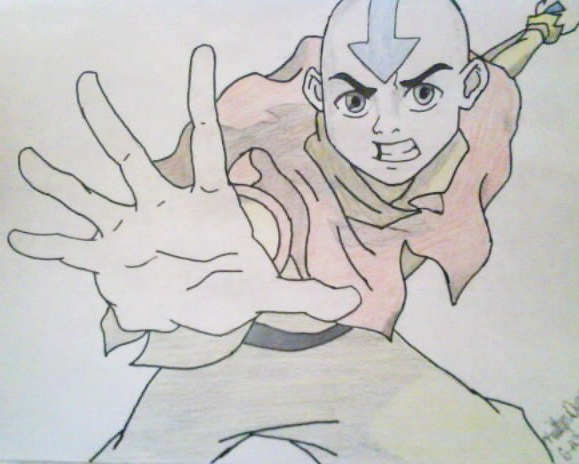 Aang Colored by Snukey-B