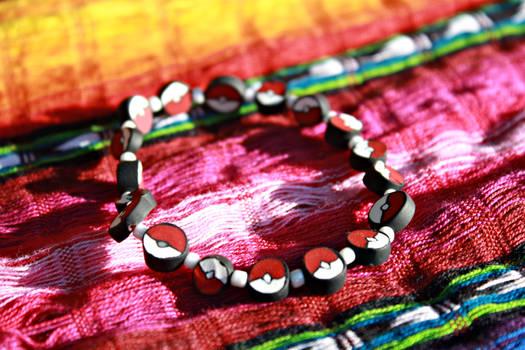 Handmade Pokeball Bracelet