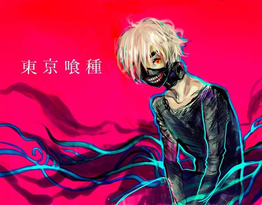 Tokyo Ghoul - Kaneki by Ama-Natto
