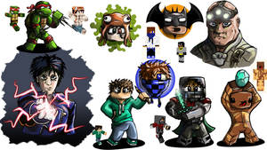 Minecraft characters by noahboapoa