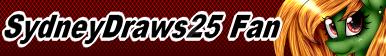 .:SydneyDraws25 Fan Button:. by xXCosmicCarrotXx