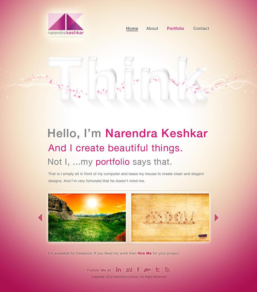 Narendra Keshkar Portfolio by captonjohn