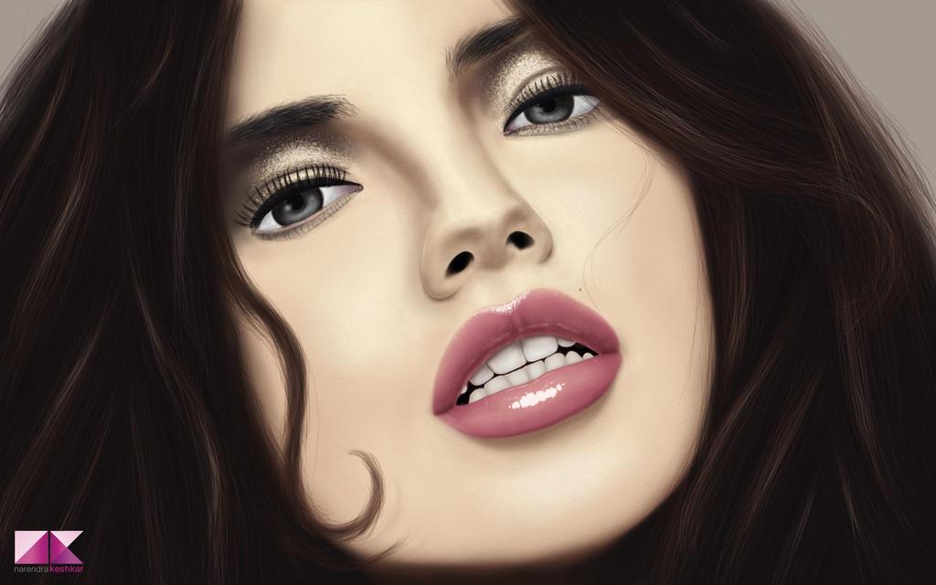 beautiful women painting by captonjohn digital art drawings paintings