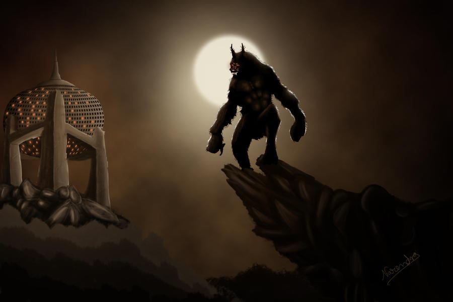 Evil in night by captonjohn