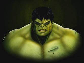 The Hulk Painting by captonjohn