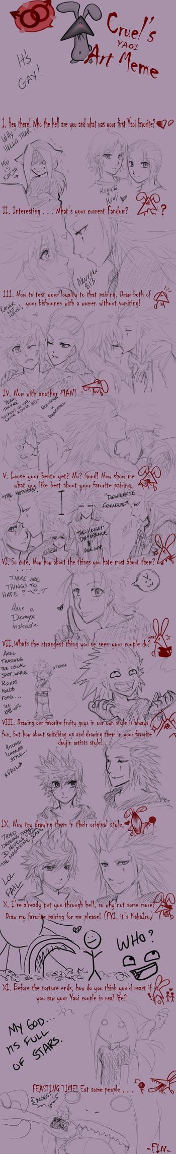 The Yaoi Meme by Memorialfire